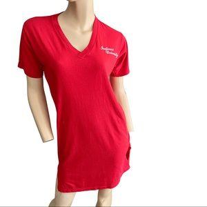 Vintage- Indiana University red T shirt dress -M